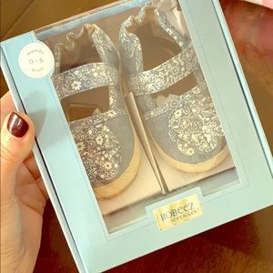 Robeez denim espadrille baby shoes
